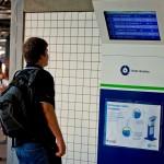 Totem de informações aos passageiros