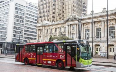 ônibus da Volvo em Bogotá, Colômbia