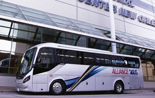 ônibus Caio nos Estados Unidos